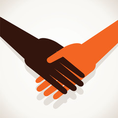 shake hand stock vector