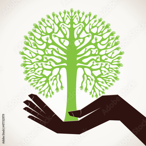 save the the tree stock vector