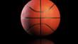 Basketball, jumping on black background, loop