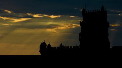 Portugal Belem tower east sunbeams