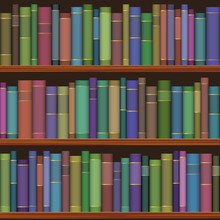 Étagères de la bibliothèque sans soudure avec de vieux livres