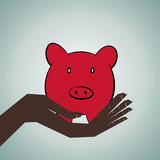 piggy save money concept stock vector