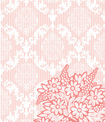 pink vintage damask background