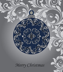 Christmas ball vector illustration