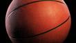 Basketball, Rotation on black background, loop