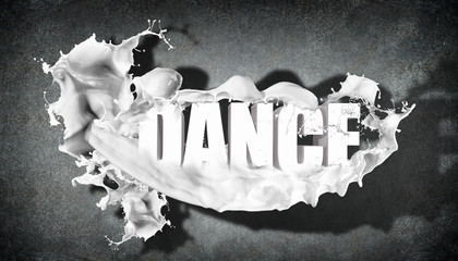 Word Dance on grey background