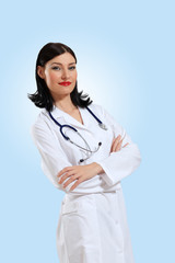 young female doctor portrait