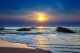 Sunset on Khao Lak beach in Thailand.