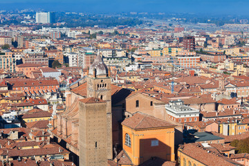 panoramic view from Asinelli Tower, Bologna