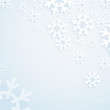 Winter abstract bright background. Template for a text