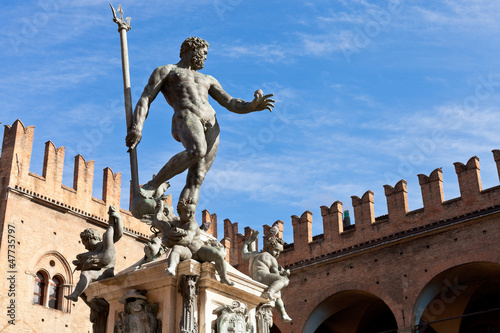 Statue of Neptune on Piazza del Nettuno in Bologna