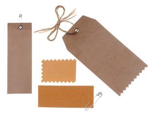 blank cardboard paper labels
