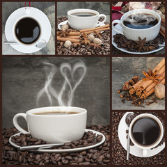 Compilation of various coffee related images