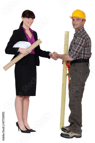 businesswoman and craftsman