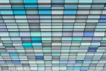 3d render abstract multiple blue tiled backdrop