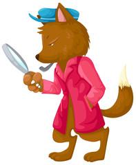 fox detective vector