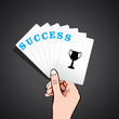 playing with success card