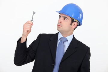 Architect with a key