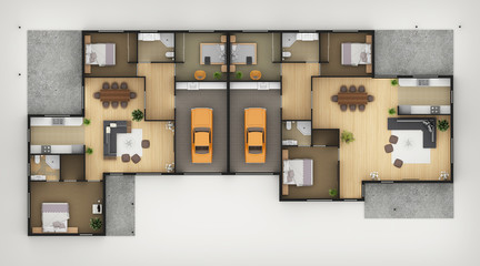 Floor Plan Of Residential House3