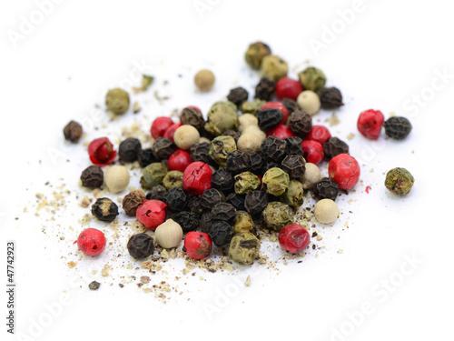 Fotobehang Kruiderij Rot, schwarz, grün, weiß