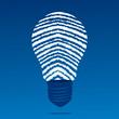 finger print bulb stock vector