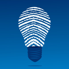 finger print bulb stock vector