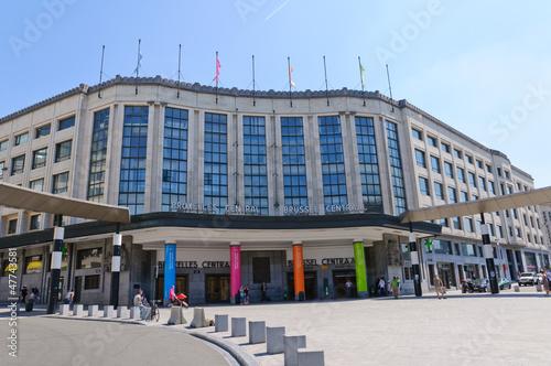 Leinwanddruck Bild Brussels Central Station