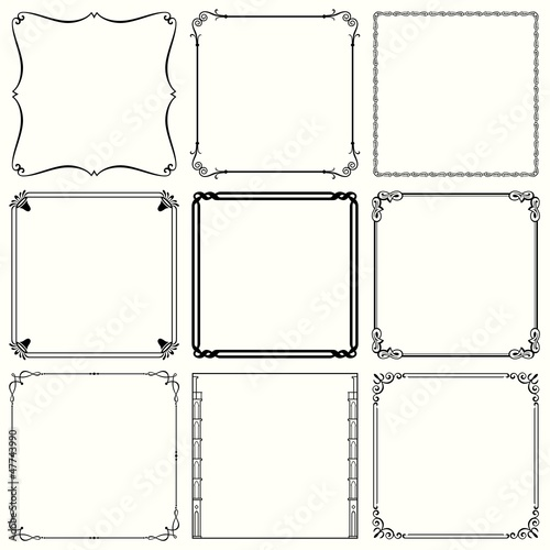 Decorative frames  (set 40)