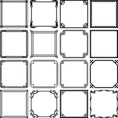 Decorative simple frames