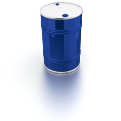 Barrel of blue color