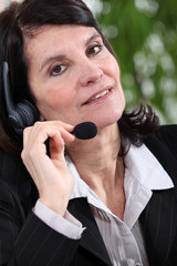 Mature woman receptionist
