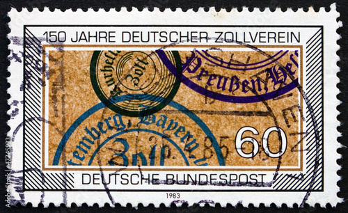 Postage stamp Germany 1983 German Customs Union