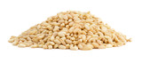 Heap of wheat on white background