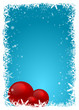 Christmas Frame with red bubbles