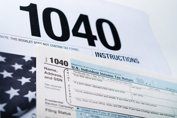 U.S. Income Tax Return form 1040.