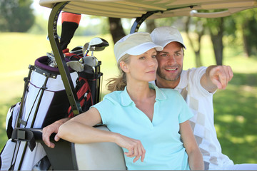 Couple in a golf