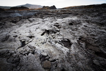 cold lava erupted in iceland
