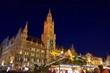 Leinwandbild Motiv München Weihnachtsmarkt - Munich christmas market 03