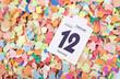 Konfetti mit Kalenderblatt Fasching 2013 IV