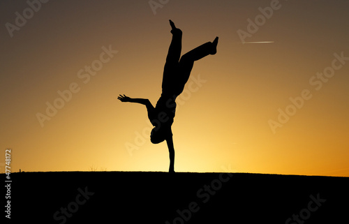 sunset gymnast