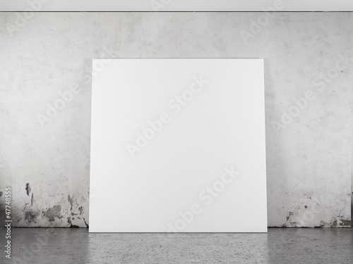 White blank frame against the wall - 47748555