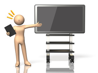 Presentation using the electronic blackboard