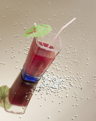 Cocktail jus de fruits rouges