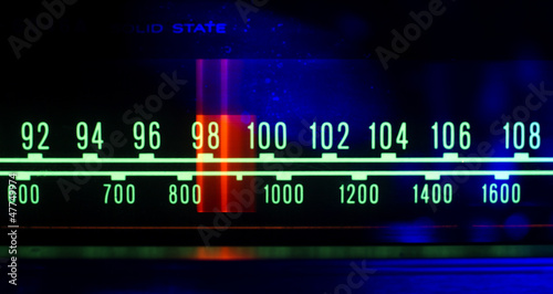 radio dial with lights - 47749974