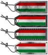 Hungary Flags Set of Grunge Metal Tags