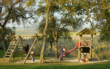 Playground in an idyllic ambience