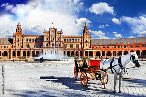 Spain,Seville, plaza Espana