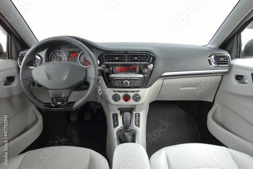 studio shot modern car interior