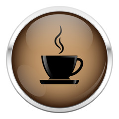 Brown coffee icon