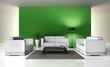 Lounge in grünem Ambiente